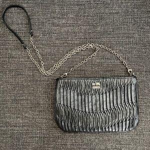 COACH black leather chain crossbody bag!